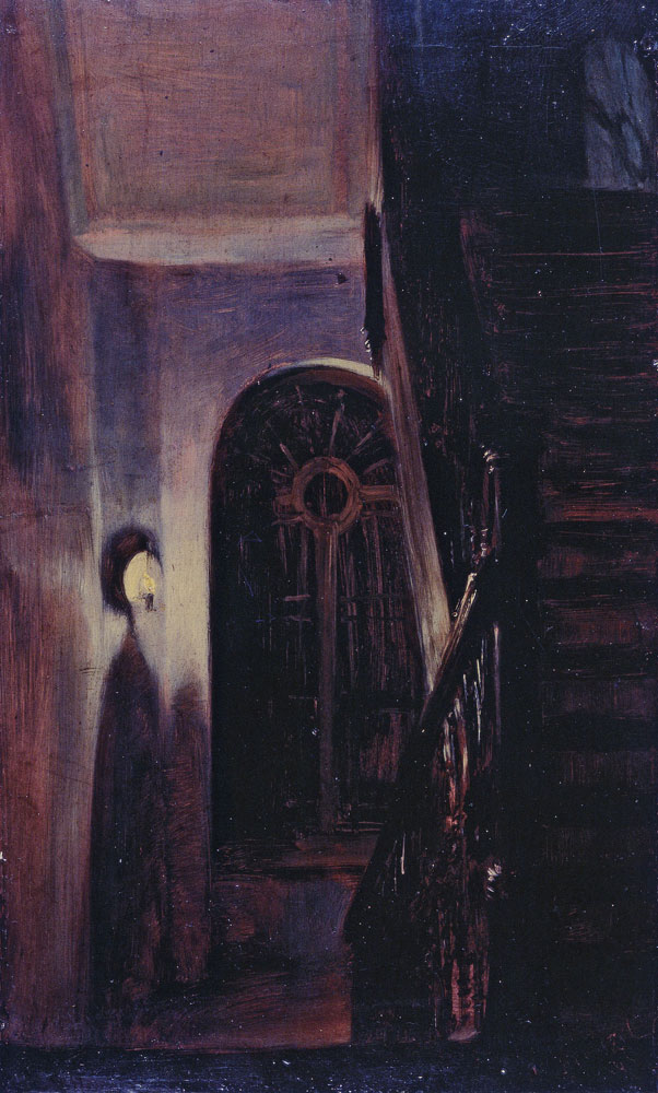 Adolph Menzel - Staircase by Night