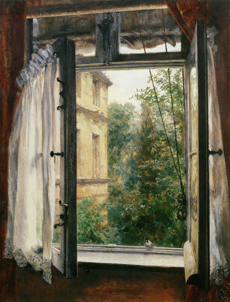 Adolph Menzel - View from a Window in Marienstrasse