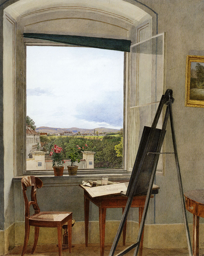 Jakob Alt - View from the Artist's Studio in the Alservorstadt toward Dornbach