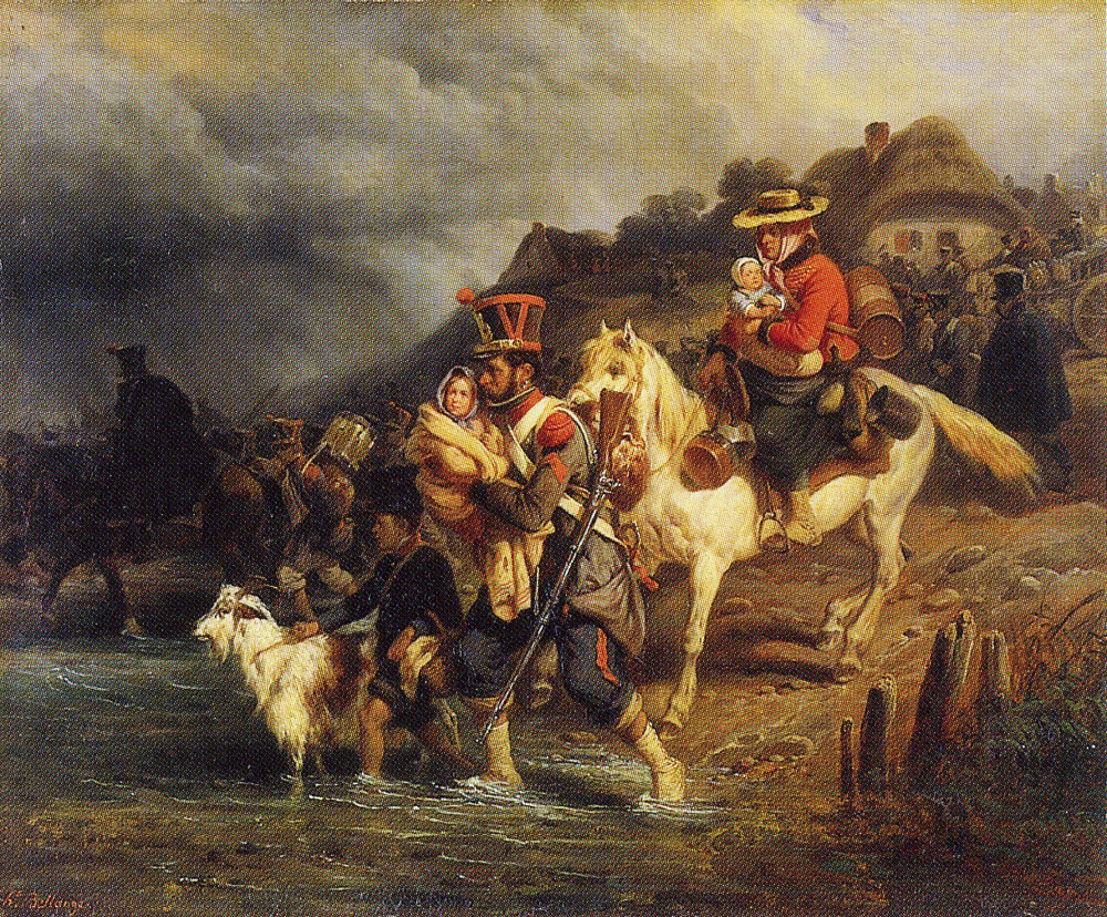 Hippolyte Bellangé - Crossing the Ford