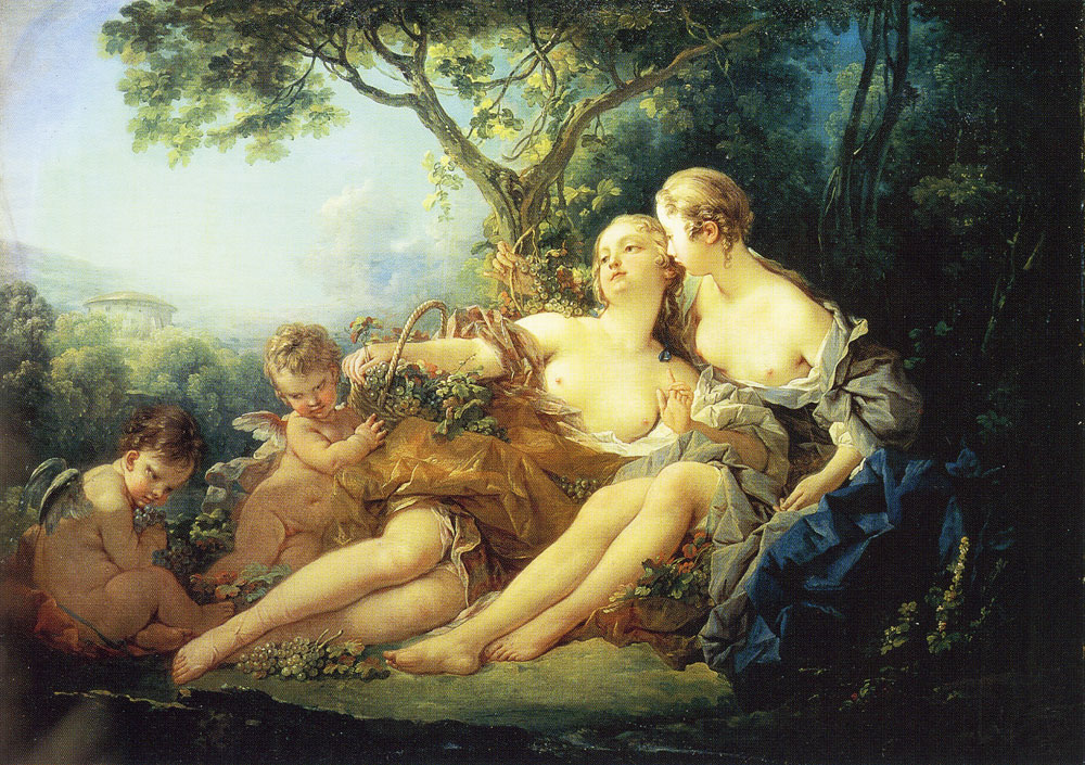 François Boucher - Bacchus and Erigone