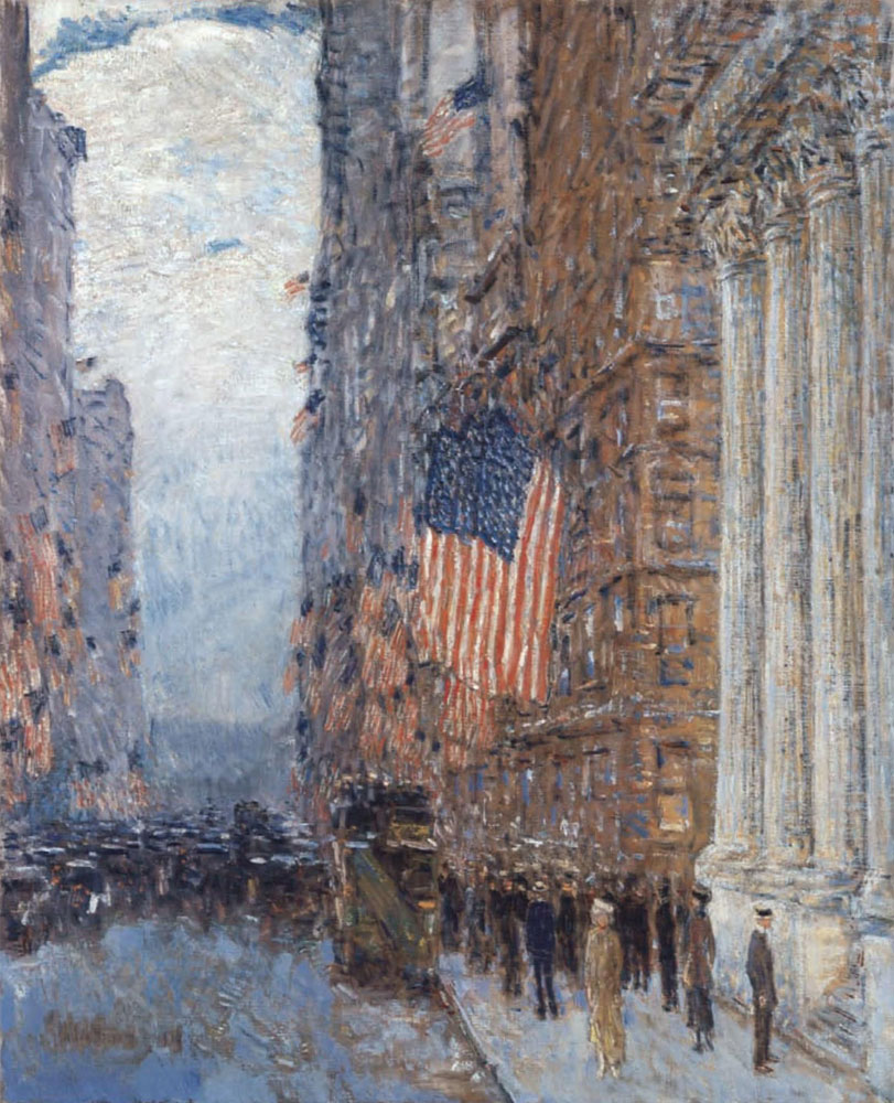 Childe Hassam - Flags on the Waldorf