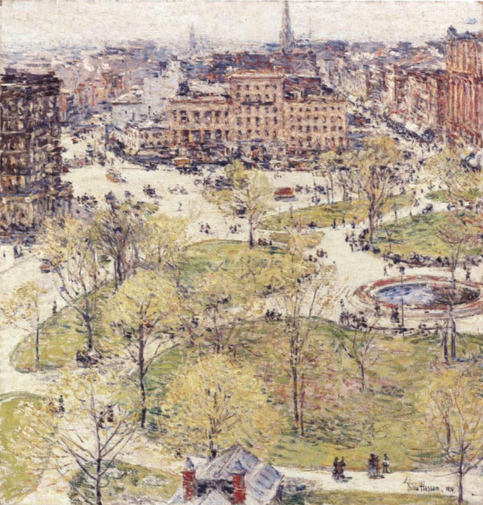 Childe Hassam - Union Square in Spring