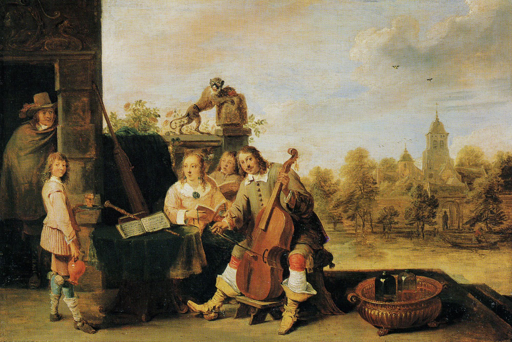 David Teniers the Younger - The Painter with His Family