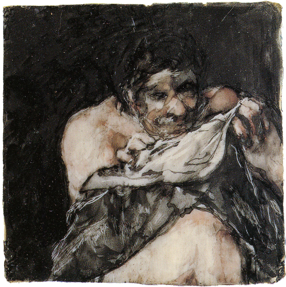 Francisco Goya - Man Looking for Fleas in his Shirt
