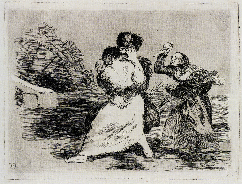 Francisco Goya - They Do Not Want To (Working proof)
