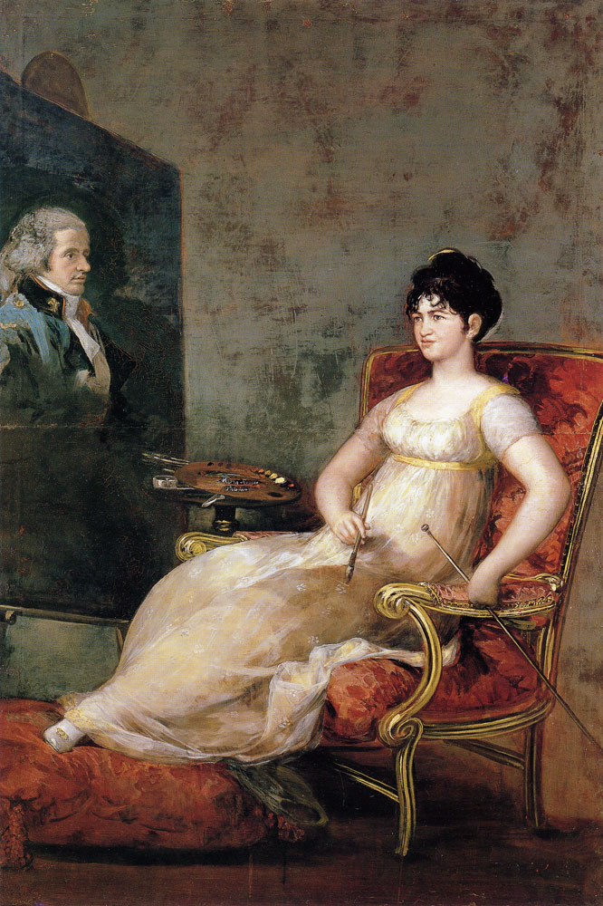 Francisco Goya - The Marchioness of Villafranca Painting Her Husband