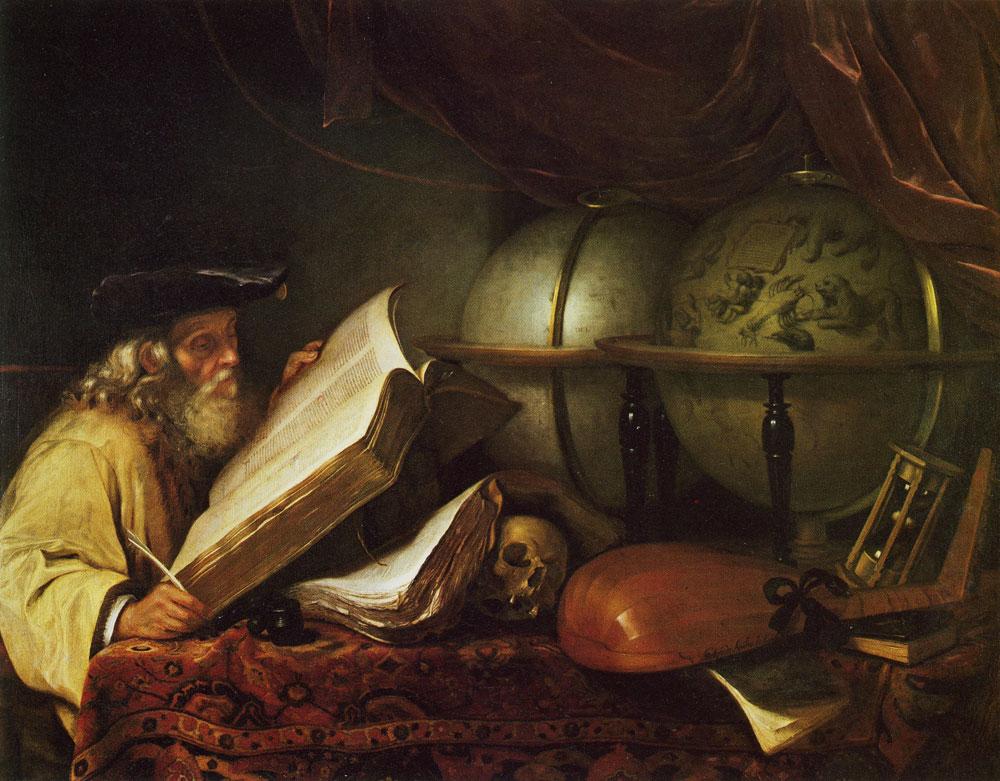 Godfrey Kneller - Old Scholar (Vanitas Allegory)