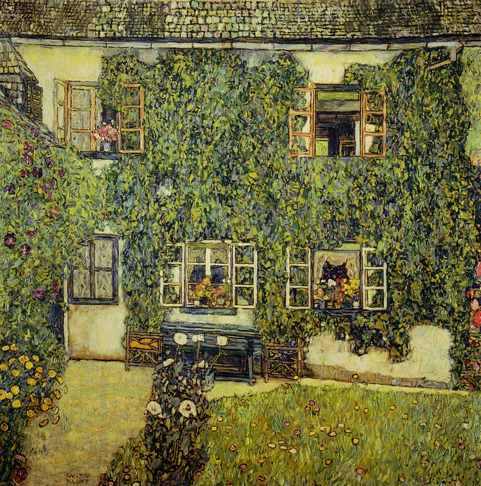 Gustav Klimt - Forester House in Weissenbach on the Attersee