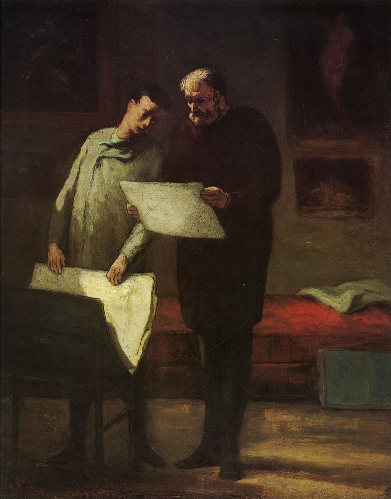 Honoré Daumier - Advice to a young artist