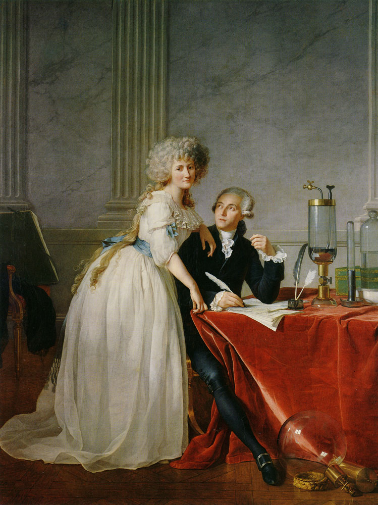 Jacques-Louis David - Antoine-Laurent Lavoisier and His Wife