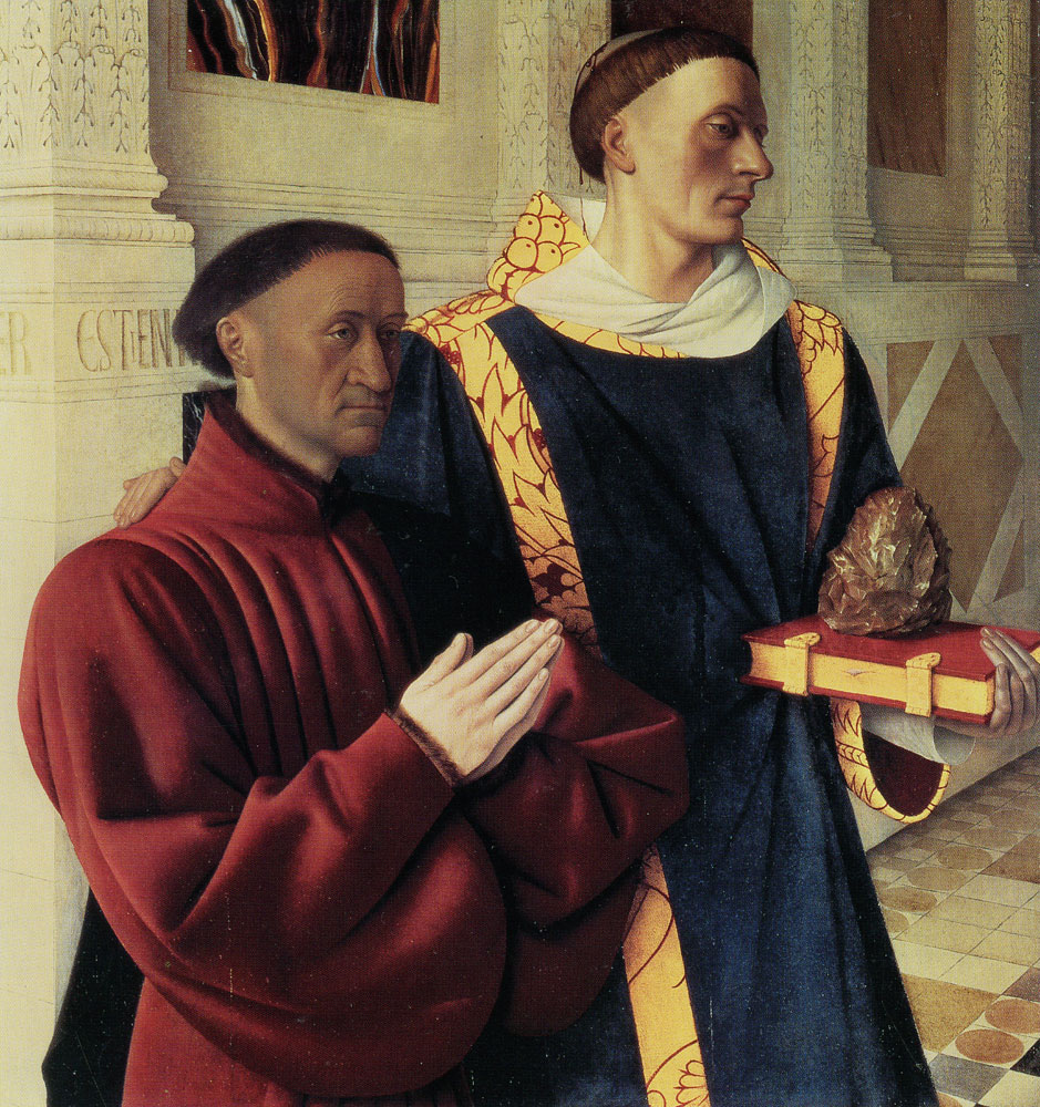 Jean Fouquet - Etienne Chevalier with Saint Stephen
