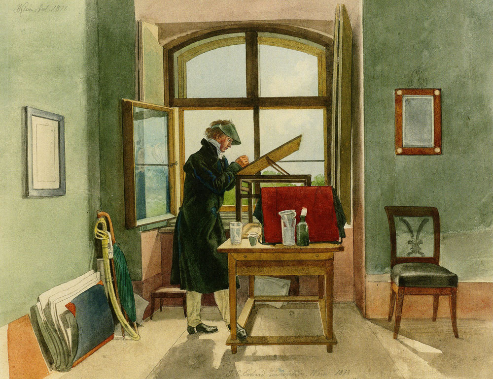 Johann Adam Klein - The Painter Johann Christoph Erhard in His Vienna Studio