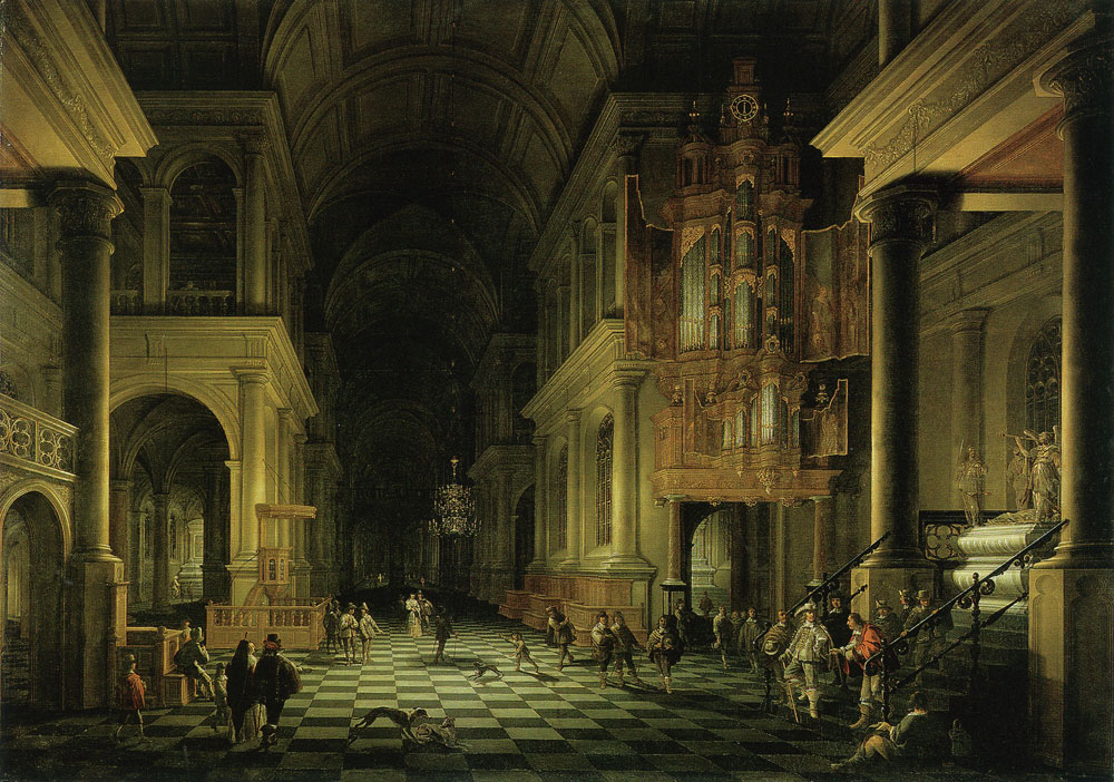 Anthonie de Lorme and Anthonie Palamedesz. - Interior of a church
