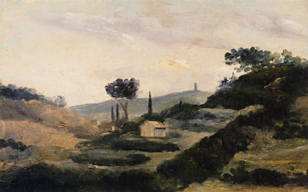 Paul Cézanne - Landscape with La Tour de César
