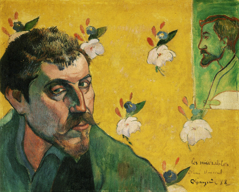 Paul Gauguin - Self-Portrait Dedicated to Vincent van Gogh