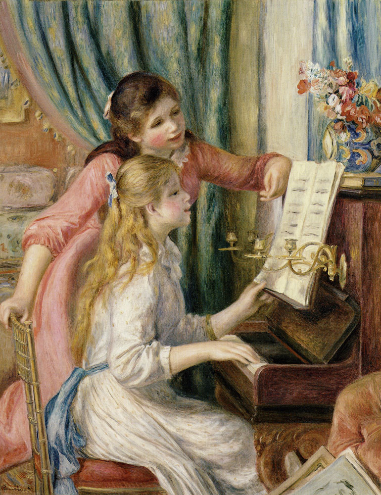 Pierre-August Renoir - Two Young Girls at the Piano