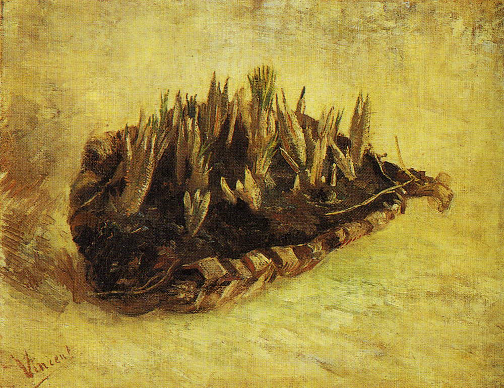 Vincent van Gogh - A basket with sprouting bulbs