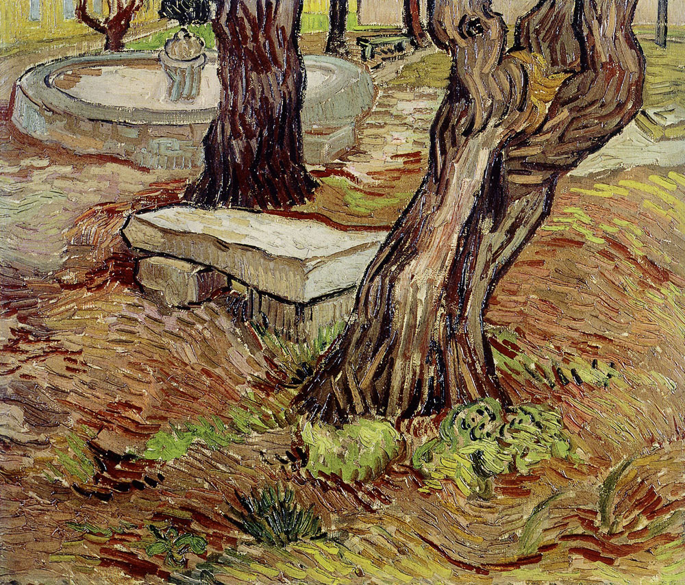 Vincent van Gogh - Bench in the Park of the Asylum at Saint-Rémy