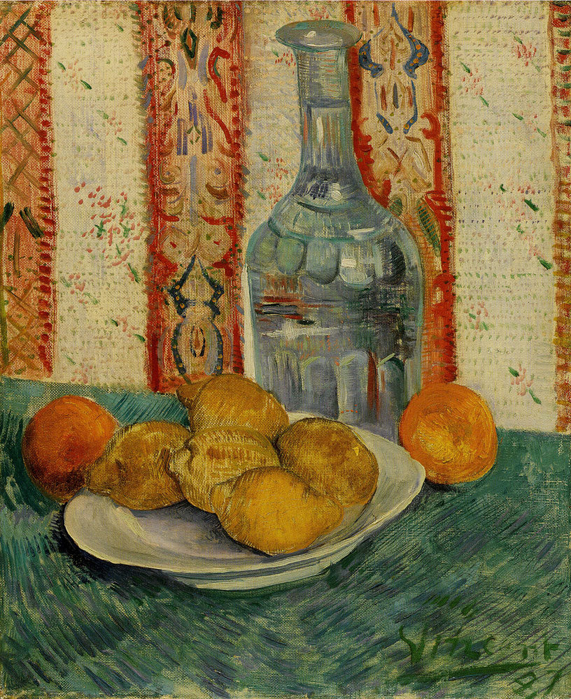 Vincent van Gogh - Carafe and dish with citrus fruit