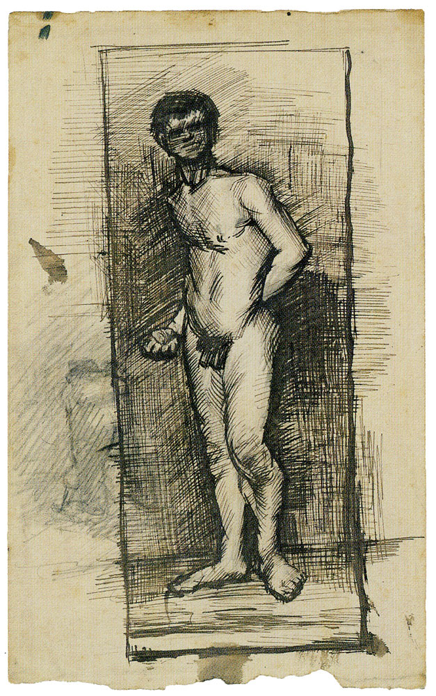 Vincent van Gogh - Male Nude, Standing, Drawn over a Sketch
