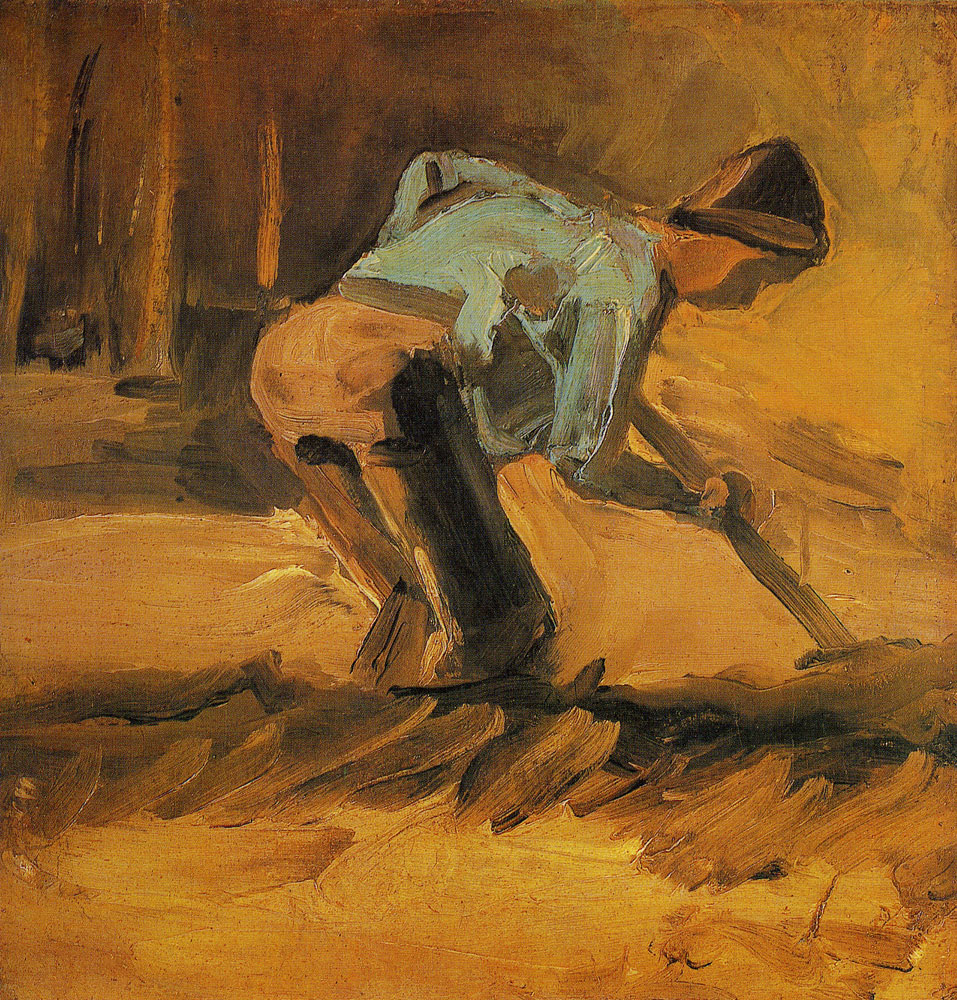 Vincent van Gogh - Man stooping with stick or spade