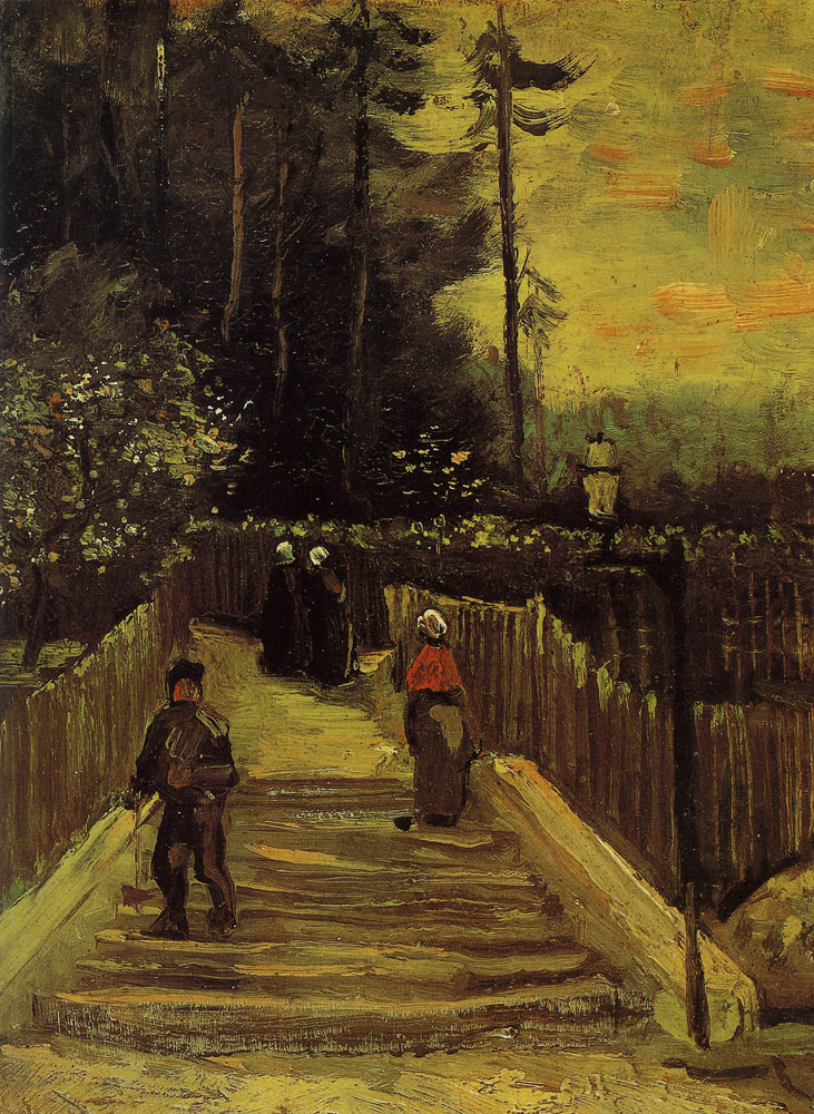 Vincent van Gogh - A path in Montmartre