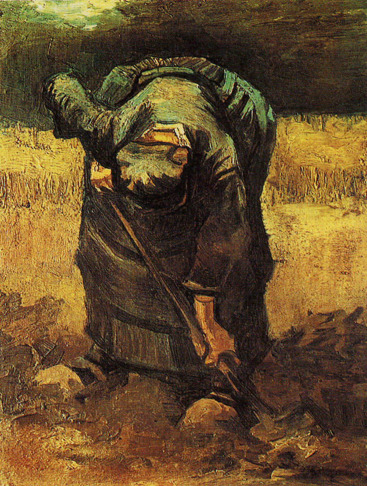 Vincent van Gogh - Peasant woman, digging