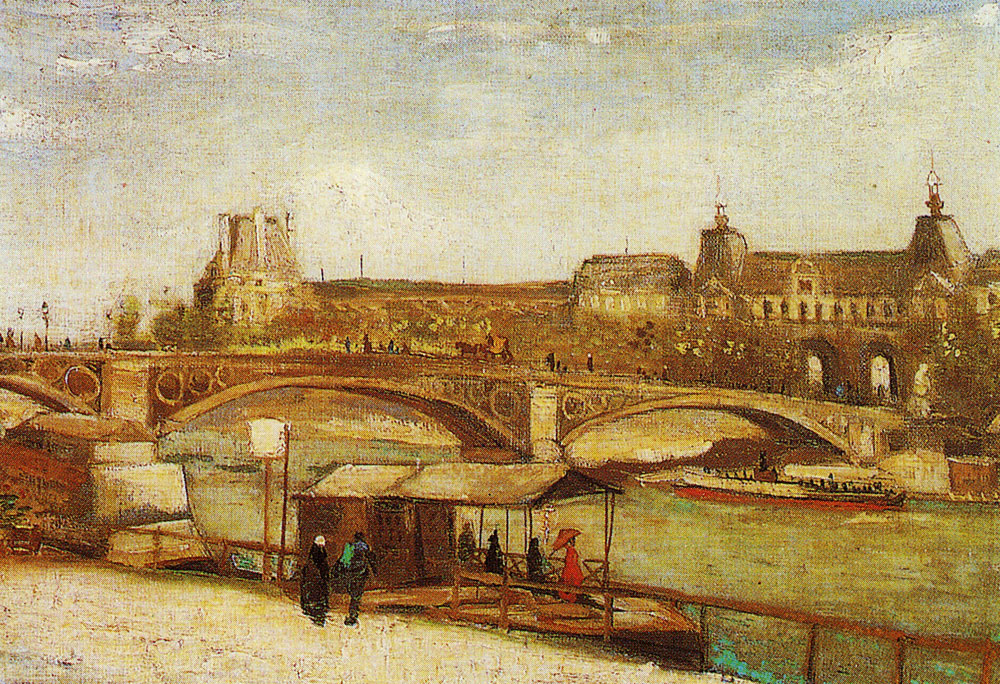 Vincent van Gogh - The Pont du Carrousel and the Louvre