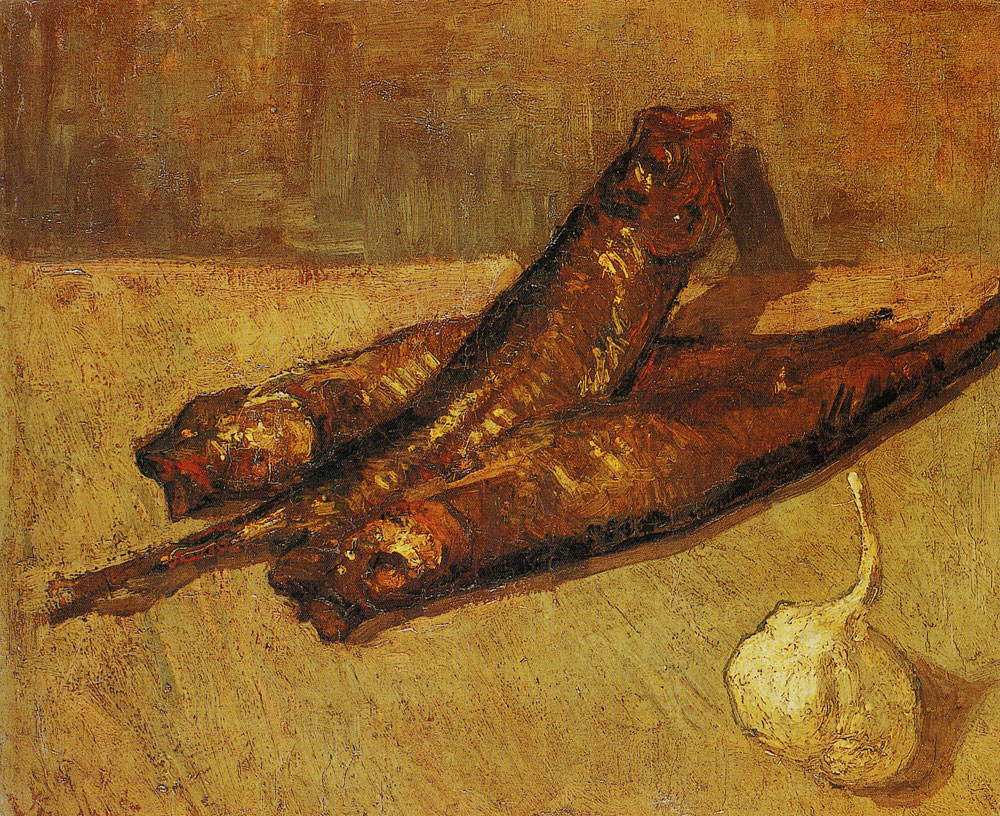 Vincent van Gogh - Three red herrings and a garlic bulb