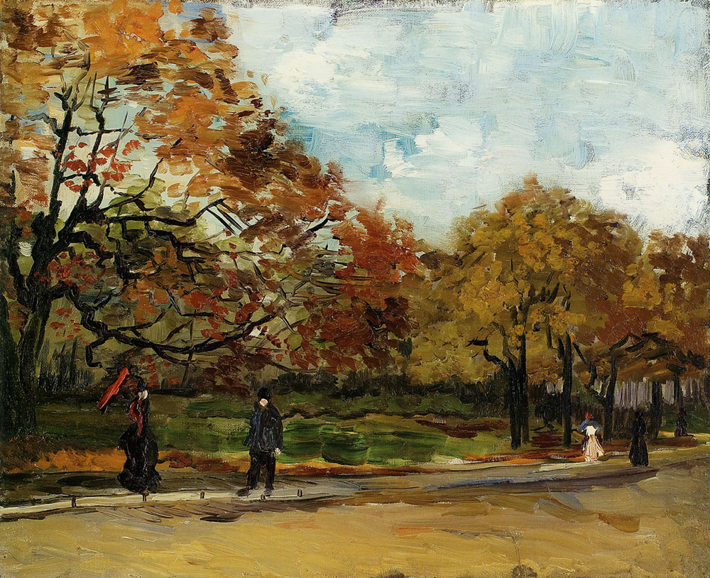Vincent van Gogh - View of a park in Paris