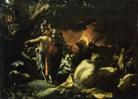 Abraham Bloemaert Troy burning