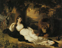 Benjamin West Una and the Lion (Mary Hall in the Character of Una)