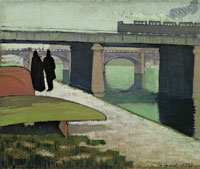 Emile Bernard Iron bridges at Asnières