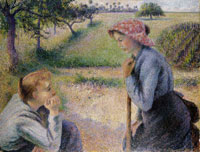 Camille Pissarro Two Young Peasant Women