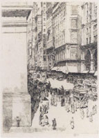 Childe Hassam Fifth Avenue, noon 2nd state