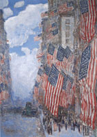 Childe Hassam The Fourth of July