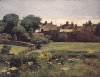 Childe Hassam Village Scene