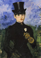Edouard Manet Woman in Riding Habit, Full-face