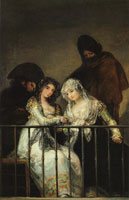Attributed to Francisco Goya Majas on a Balcony