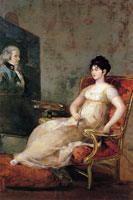 Francisco Goya The Marchioness of Villafranca Painting Her Husband