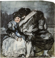 Francisco Goya A Seated Majo and Maja