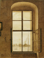 Caspar David Friedrich View from the Artist's Studio, Window on the Right