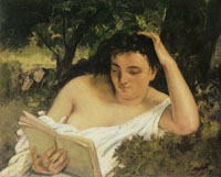 Gustave Courbet A young woman reading