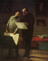 Honoré Daumier Advice to a young artist