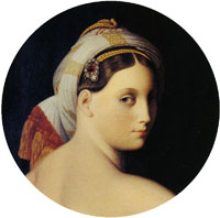 Jean Auguste Dominique Ingres Head of the grand odalisque