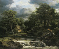 Jacob van Ruisdael Forest landscape with Waterfall