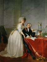 Jacques-Louis David Antoine-Laurent Lavoisier and His Wife
