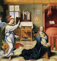 Joos van Cleve The Annunciation