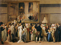 Louis-Léopold Boilly - The Public at the Louvre Salon Viewing